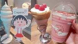小丸子生日限定!激萌聯名覆盆莓鮮奶油可麗餅、草莓奶昔
