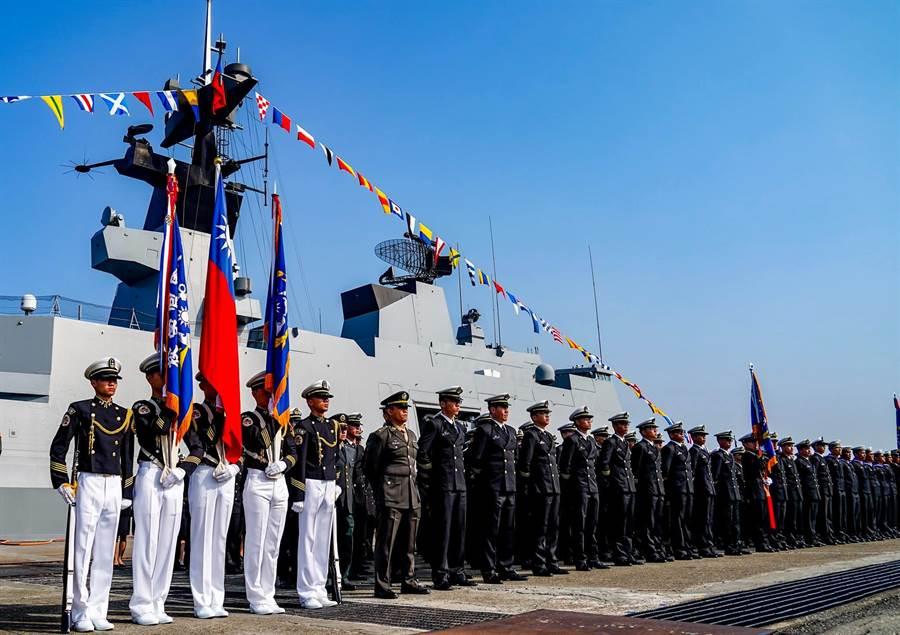 海軍敦睦艦隊。〈示意圖:國防部提供〉