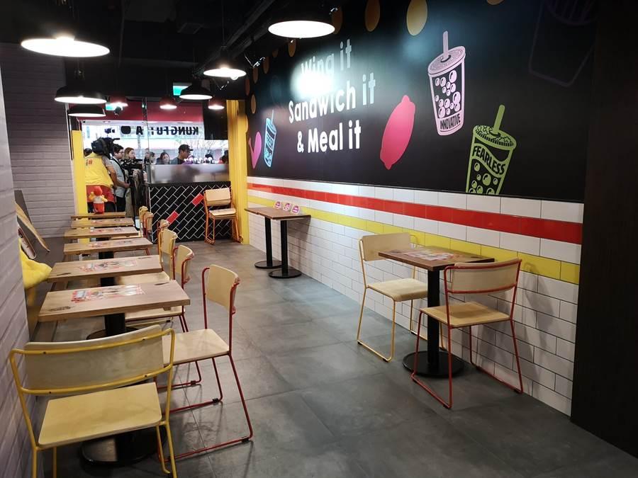 位在台北東區的 頂呱呱 旗艦概念店, 裝潢非常時尚現代。(圖/姚舜)