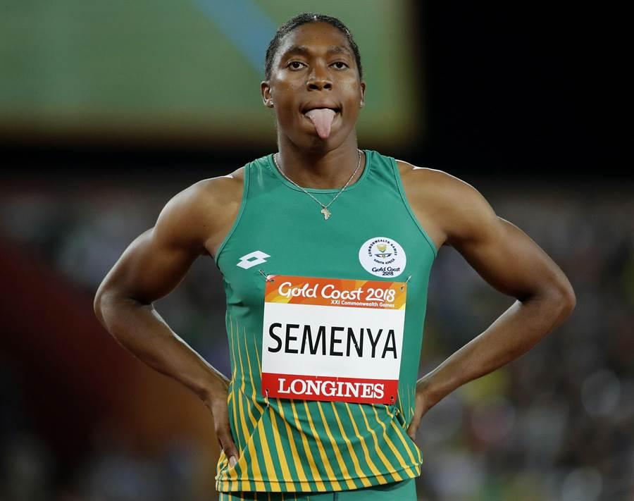 南非田徑女將瑟夢雅特殊的生理構造,讓她的參賽資格備受質疑,如今IAAF規定要連續6個將睪固酮指數降低在規定標準內,她才可以繼續參賽。(資料照/美聯社)