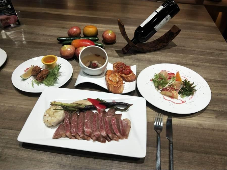 黛麗佐手義式餐廳推出A5黑毛和牛套餐。(陳淑娥攝)
