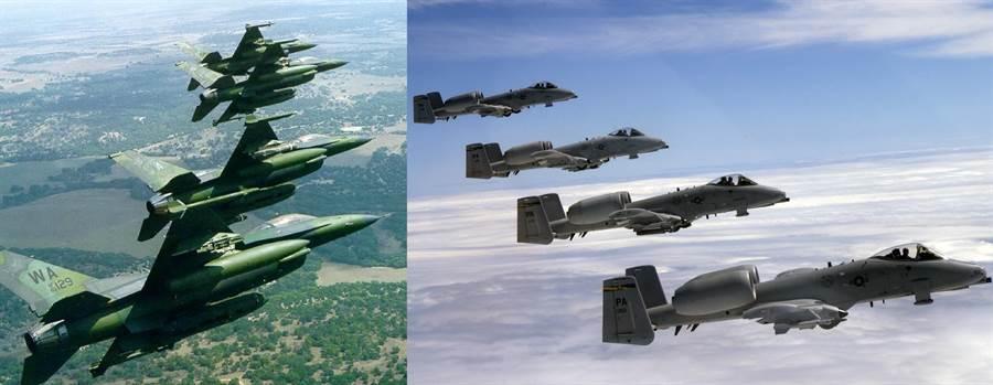 美國空軍多次想要改造F-16成為密接攻擊機,以取代A-10,不過兩種飛機屬性不同,完全無法取代。(圖/美國空軍)