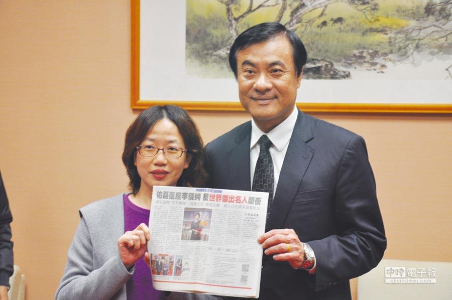 佑磊石業董事長李儀娉(左)以社會企業標竿自許,更關注石材業未來的發展。圖/業者提供