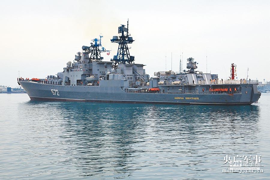 中俄「海上聯合─2019」軍演,俄方參演艦艇。(央廣軍事)