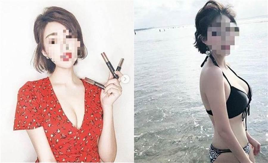 小三空姐長相甜美,身材火辣,IG擁有逾10萬名粉絲。(圖/翻攝畫面)