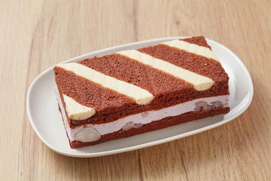 全聯We Swee可可芋泥生乳酪,嚴選大甲芋泥加上進口乳酪的香濃內餡,搭上72%巧克力蛋糕,口感綿密又香濃,150g/盒,99元。(全聯提供)