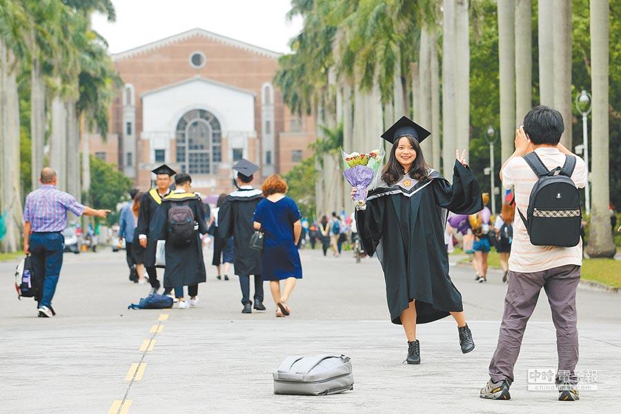 英國泰晤士高等教育公布2019亞洲大學排行榜,台大排名第25,是台灣唯一進入前50名的大學。(本報資料照片)