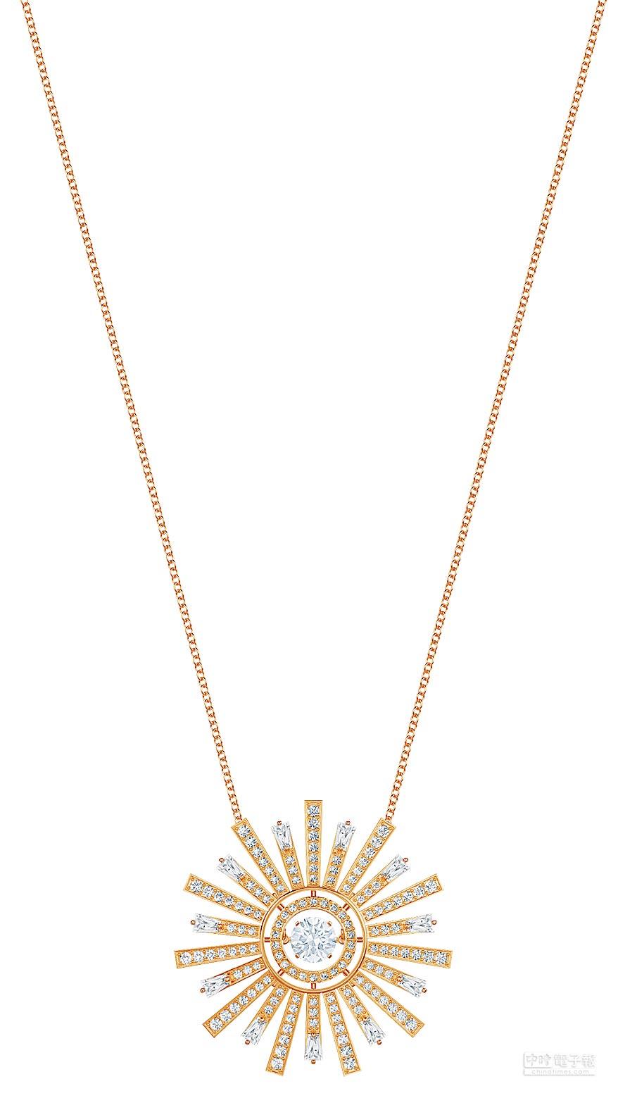 SWAROVSKI母親節主打Sunshine項鍊,8990元。(SWAROVSKI提供)