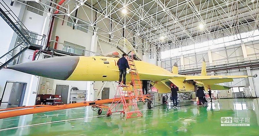 大陸試飛院放出的殲-11D原型機的清晰照片。(取自試飛院)