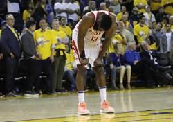 NBA》眨眼演戲?勇士球員質疑哈登詐傷