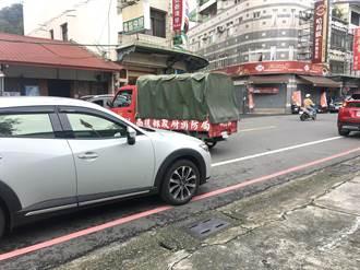 違停橫擋消防車 魚池這台小白讓消防志工傻眼