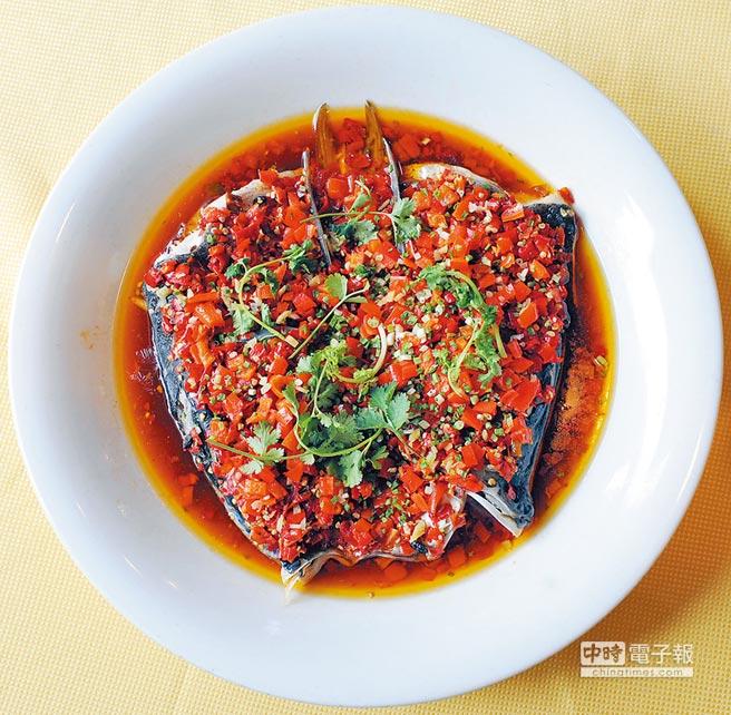 湘菜剁椒魚頭。(新華社資料照片)