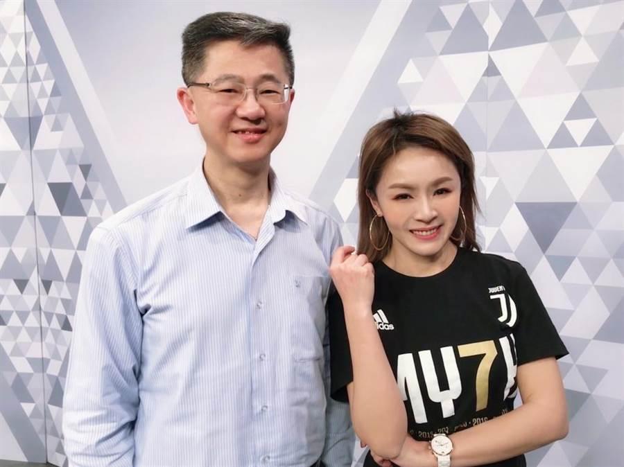 台灣運彩總經理林博泰上時來運轉節目談運彩眉角。(中時電子報)