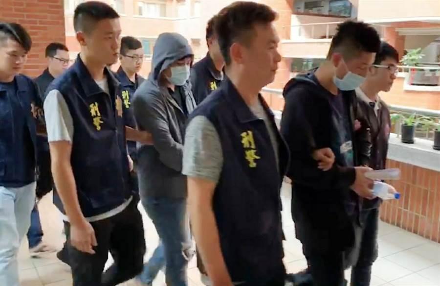 彰化縣警察局查獲全國首宗遊戲主題餐廳涉嫌組織犯罪,逮捕蔡姓主嫌等6名嫌犯。(吳敏菁攝)