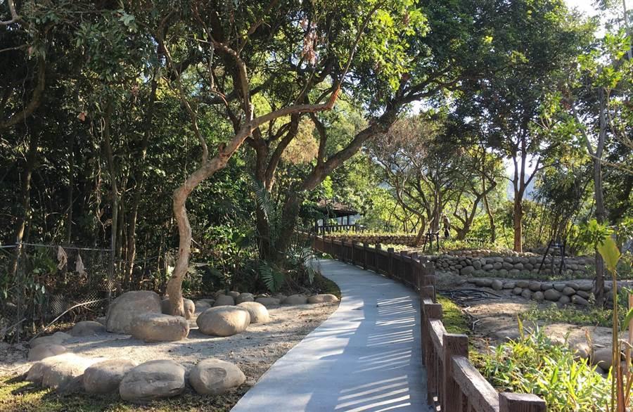 大坑生態園區景觀改善計畫第一期整修工程,今年初完工。(陳世宗翻攝)