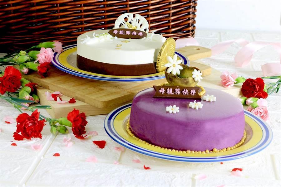 理想大地迎接母親節推出兩款母親節蛋糕。(張祈翻攝)