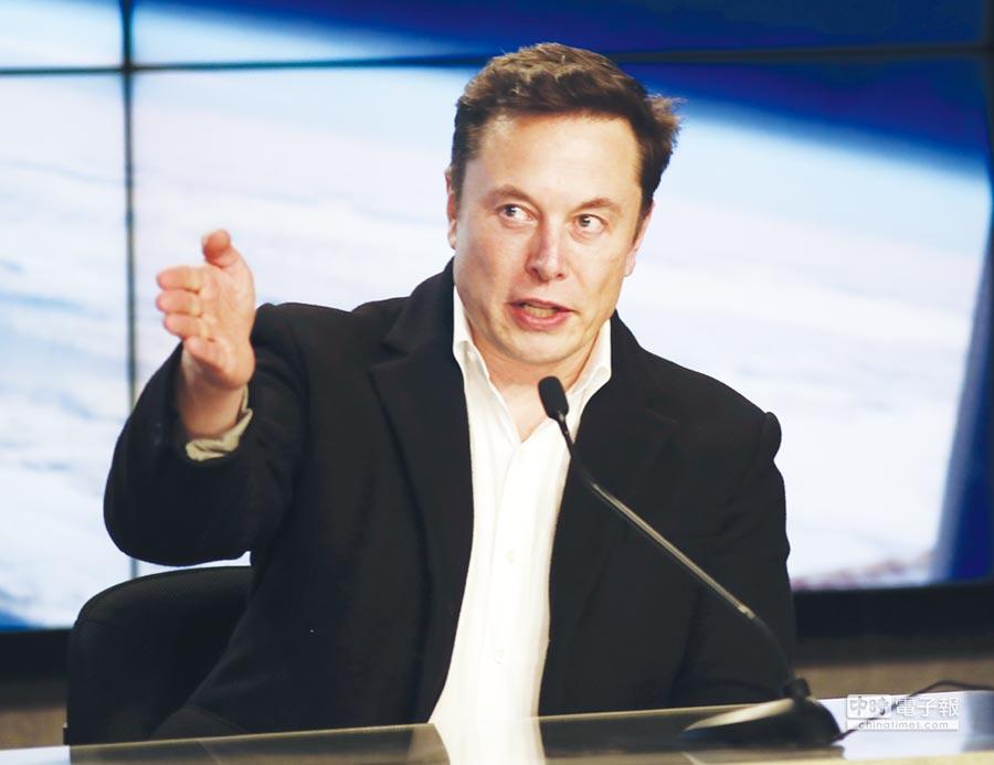 特斯拉執行長穆斯克發下豪語,特斯拉將靠自駕系統躋身市值5千億美元的大企業。圖/美聯社