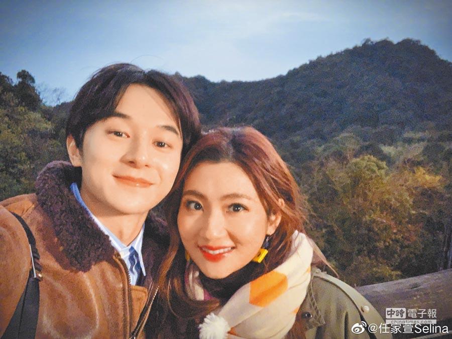 張軒睿(左)與Selina因真人秀節目傳戀情。(取材自微博)
