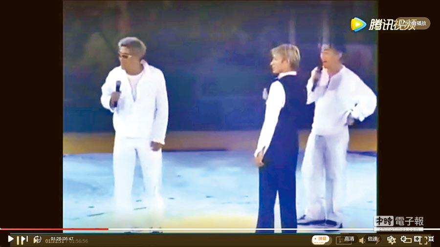 吳宗憲(右)1999年赴香港,為劉德華擔任演唱嘉賓。(翻攝騰訊視頻)