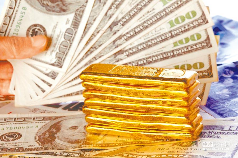 因市場避險情緒降,金價創新低。(本報資料照片)