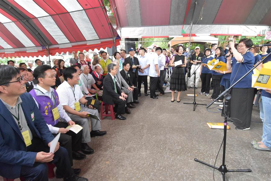 彰化县成立全台首座「台语文创意园区」位于八卦山成功营区内,5日举办爱母亲讲母语暨台语文创意园区周年庆活动。
