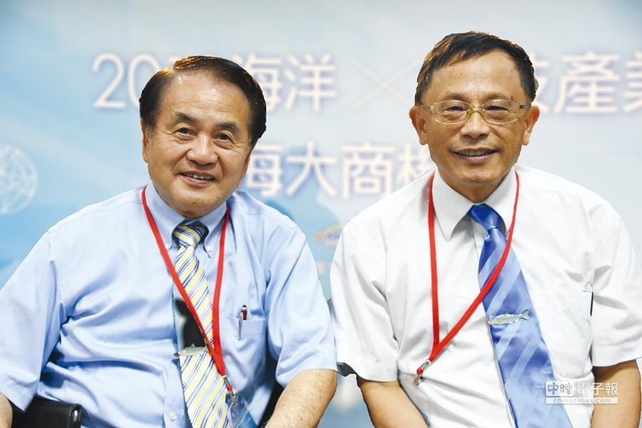 計畫主持人中研院吳金洌客座講座(左起)、國立臺灣海洋大學張清風校長。圖/農業生技分析與促進辦公室提供