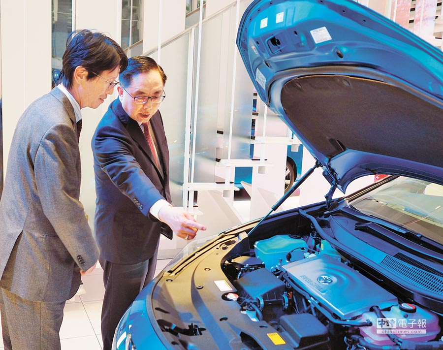 豐田汽車mirai氫燃料電池。(香港中通社)
