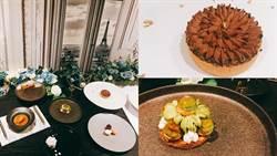 美到捨不得吃!台北東區餐廳新推9款「盤飾甜點」