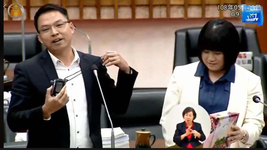 民進黨高雄市議員黃文益。(圖片取自中時電子報臉書)