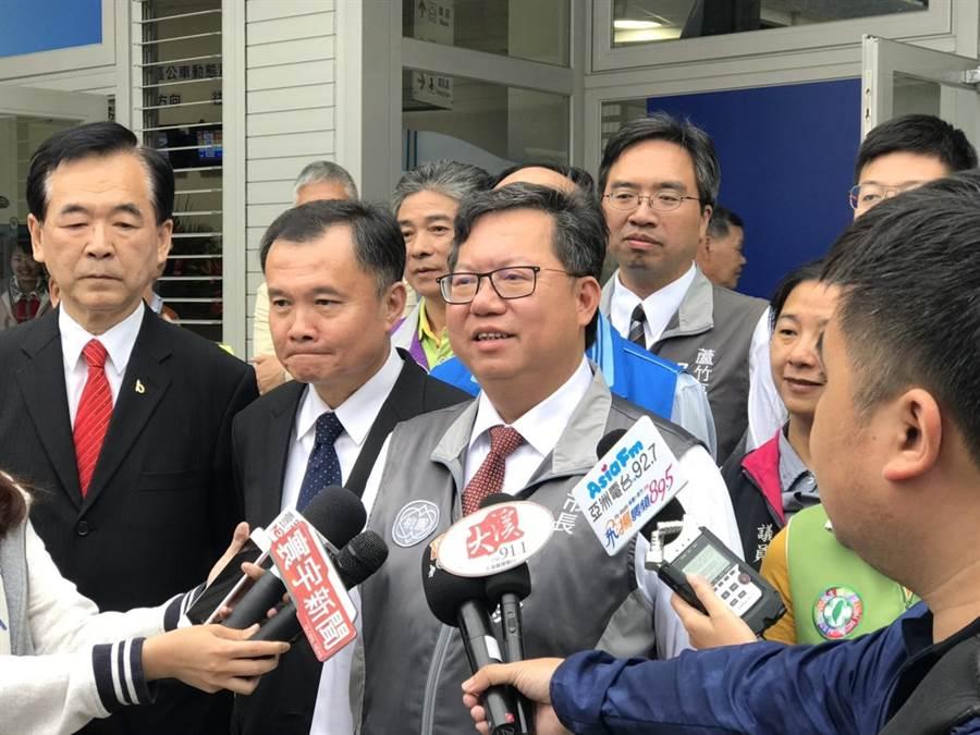 桃園市長鄭文燦參加經國轉運站啟用典禮。(蔡依珍攝)
