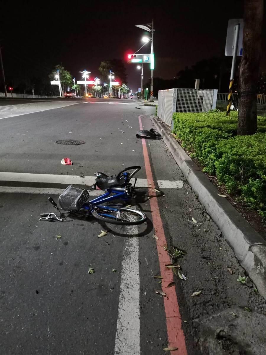 欒姓少年騎車遭酒駕的林姓男子撞上,無辜橫死街頭。(柯宗緯翻攝)