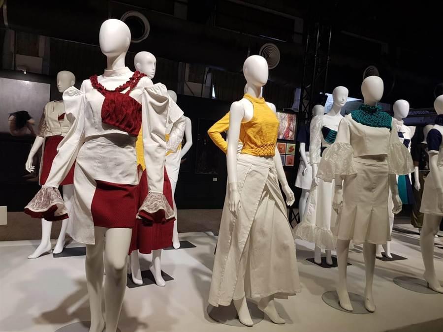 靜態部分包括服裝展示、平面繪畫、文創商品、立體工藝以及裝置藝術。(玄奘大學提供)