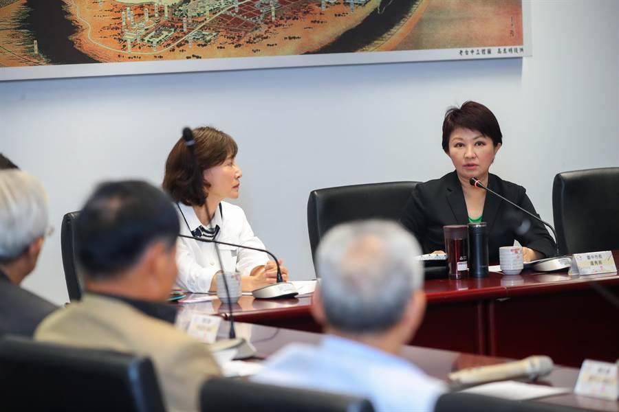 台中市長盧秀燕表示,台中不只某些產業園區要「內科化」,而是整個台中都要成為國際性城市。(盧金足攝)