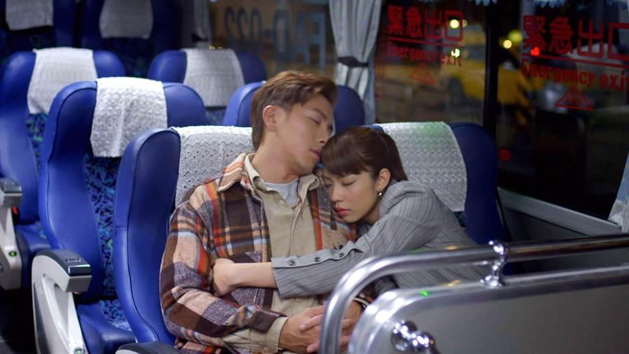 坤達、林思宇在《月村歡迎你》飾演歡喜冤家。(台視)