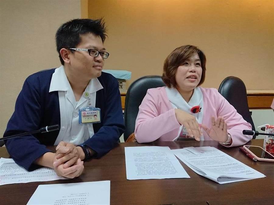 北榮夫妻檔護理師李侑達、邱詩書情定SARS事件。(陳志祥攝)