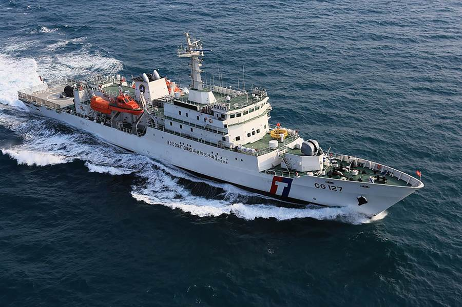 台船近日宣布取得海巡署1000噸級巡防艦6艘建造標案。圖為台船建造的新北艦。(台船提供)