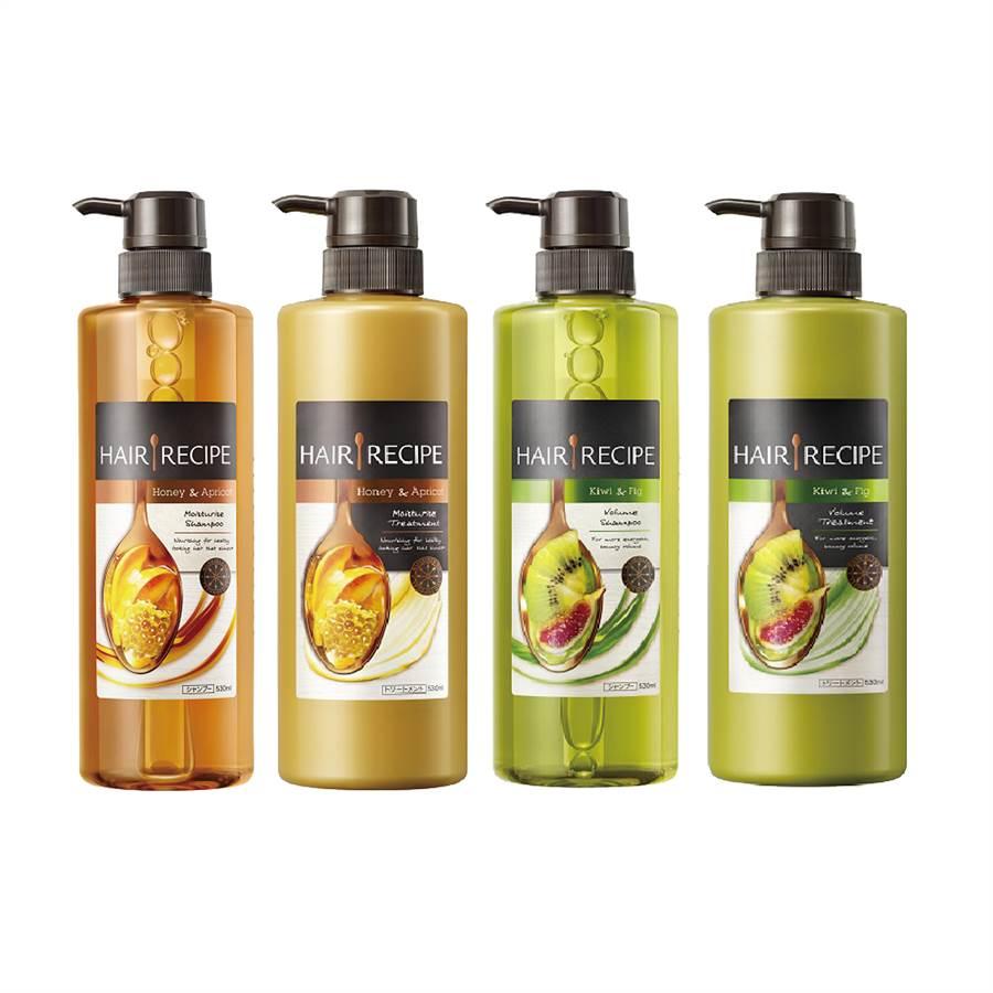 Hair Recipe洗髮精(奇異果款)是歐陽娜娜的愛用品。(圖/品牌提供)
