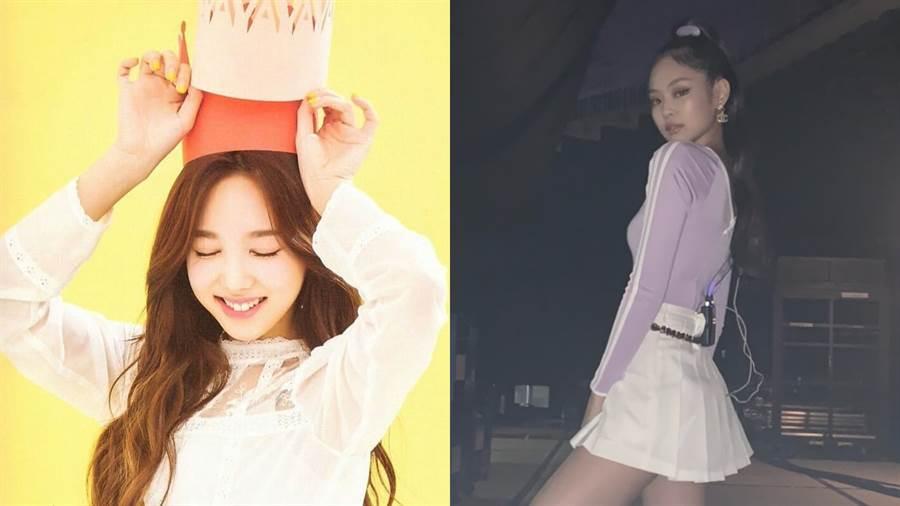 (左)TWICE娜璉、(右)BLACKPINK Jennie (圖/IG @nayeonhubs、@jennierubyjane)