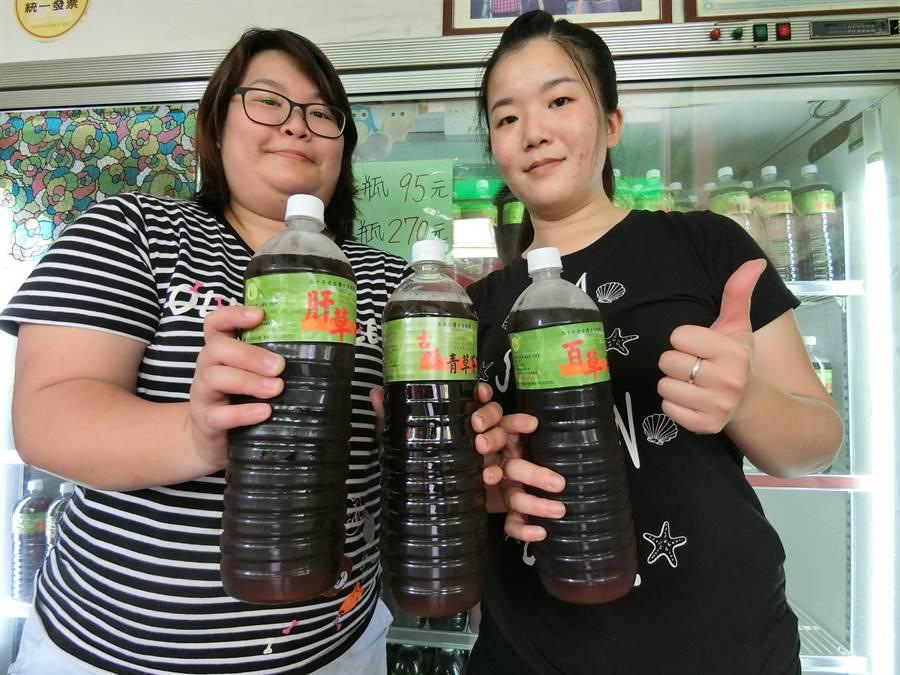 台中市豐原區草上飛青草飲品專賣店,是家傳三代,60年歷史的青草茶店。(盧金足攝)