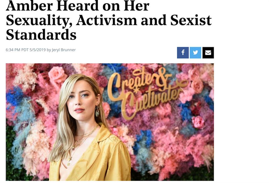 安柏赫德出席活動談論她的性別覺醒意識。(截自《好萊塢報導》)
