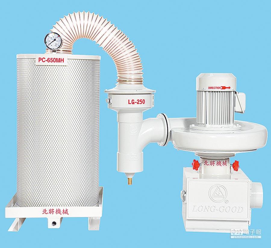 北將機械油霧回收機採專利結構設計,甚獲使用者肯定。圖╱北將機械提供