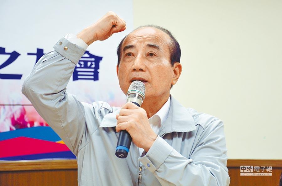 爭取國民黨總統提名的立法院前院長王金平。(林和生攝)