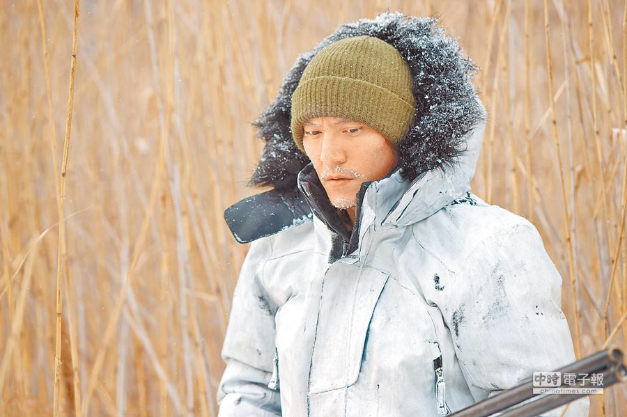 張震在《雪暴》中飾演邊境守山的員警,頂著零下30度拍電影。(本報系資料照片)