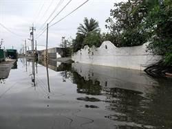 漲潮沒下雨也淹20公分 佳冬塭豐養殖生產區盼填高路面