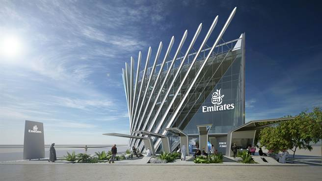 阿聯酋航空館共有三層樓、占地3