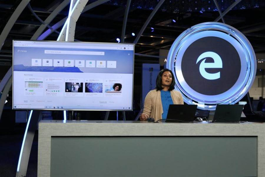 微軟 Build 2019 大會中,針對 Edge 瀏覽器增加了許多協作功能。(圖/翻攝微軟官網)