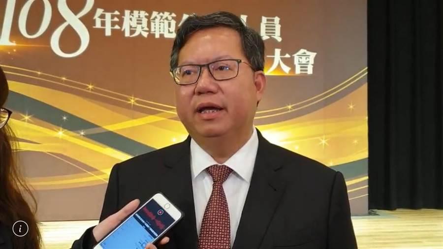 桃園市長鄭文燦希望朱立倫不要天馬行空喊口號。(甘嘉雯攝)