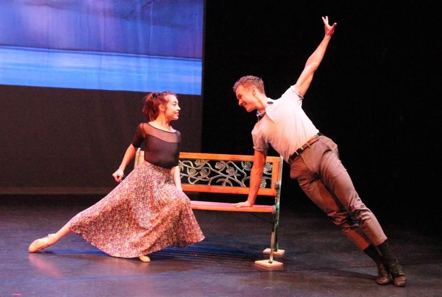 台中國家歌劇院推出百老匯原裝的音樂劇《一個美國人在巴黎》,男女主角精湛的演出。(陳淑芬攝)