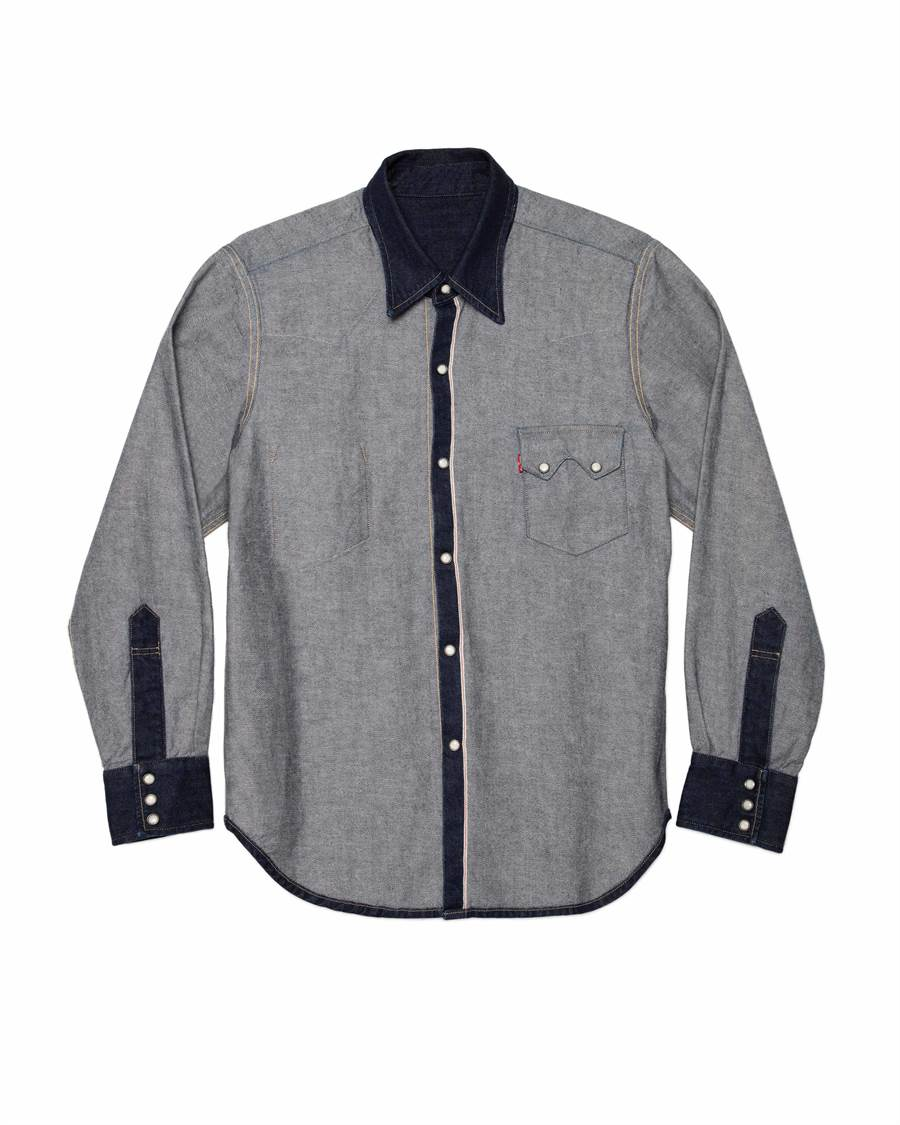 LEVI'S X BEAMS INSIDE OUT內外反轉丹寧襯衫,8100元。(LEVI'S提供)