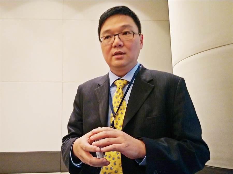 工業電腦廠艾訊發言人黃士青。(林資傑攝)